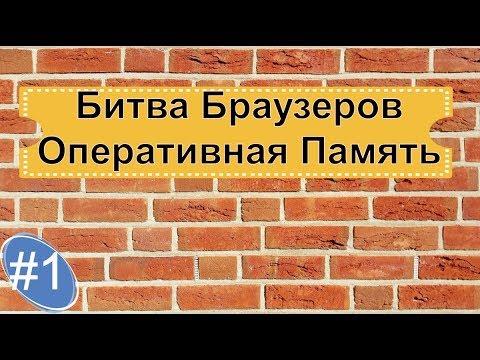 БИТВА Браузеров. Оперативная Память #1