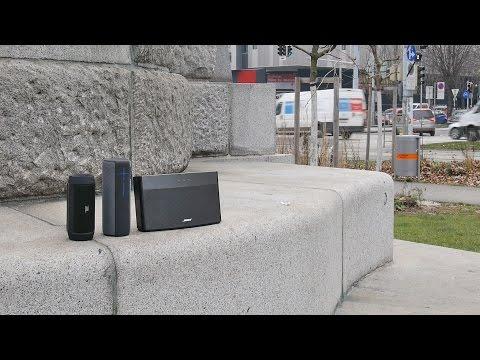 Bluetoothspeakers vs. traffic noise - JBL Charge 2 / UE Megaboom / Bose Soundlink