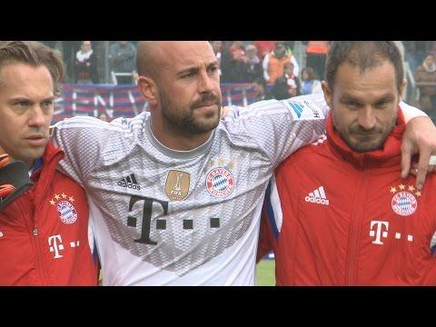 Paulaner Cup 2014: Pepe Reina muss verletzt raus (FC Bayern München)