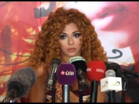 Myriam Fares Dubai Press Conference ميريام فارس