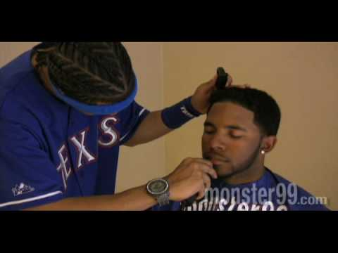Elvis Andrus Gets a Haircut