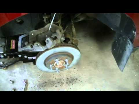Front Brake Pad Changeout 2008 Ford Escape