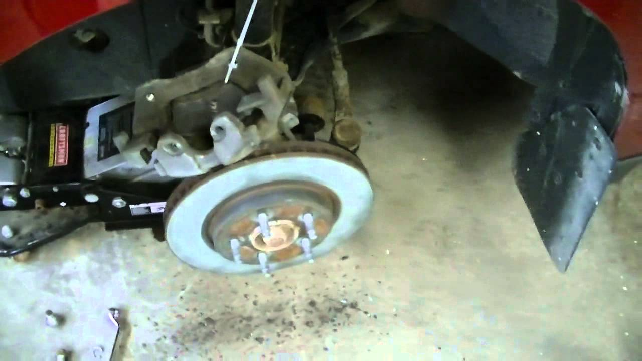 Ford Escape 2008 >> Front Brake Pad Changeout 2008 Ford Escape - YouTube