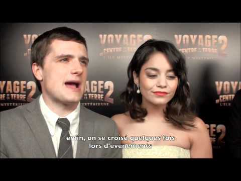 Josh Hutcherson and Vanessa Hudgens Interview in Paris