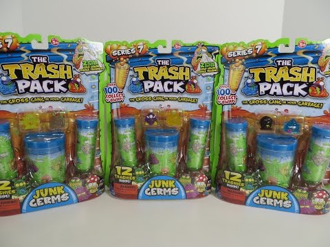 The Trash Pack Junk Germs Series 7 Trashies Opening Toy Review