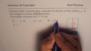 How to Write Formula for Volume of Cylinder as Function of Radius