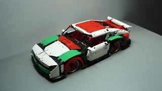 Lego Technic Porsche 911 Mission E Wide Body Edition Rebrick by dokludi