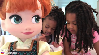 Princess & Anna Toddlers  Little Anna Afraid of Bully  -  Come Play with Toys and Me
