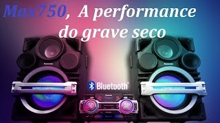 PANASONIC MAX 750 A Performance do grave seco!