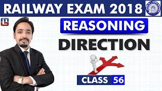 Direction | Class - 56 | Reasoning | RRB | Railway ALP / Group D | 8 PM