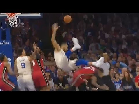 Ben Simmons Takes Scary Fall & Quickly Gets Up!