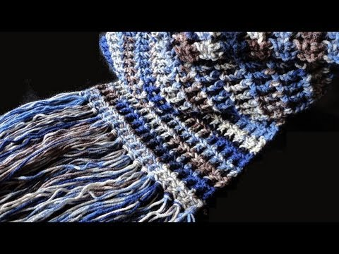 Youtube Crocheting Scarves : How to: Crochet Waffle Stitch Scarf - YouTube