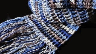 How to: Crochet Waffle Stitch Scarf
