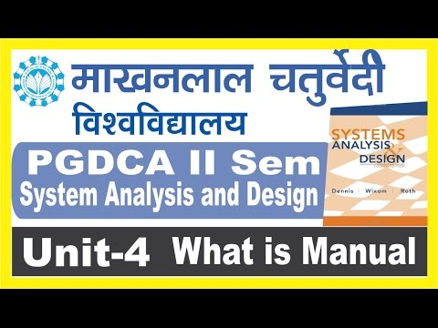 PGDCA II Sem System Analysis and DesignWhat is Manual