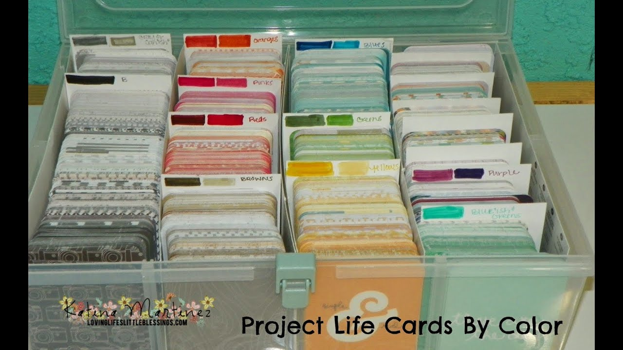 Project Life Card Ideas Project Life Cards Sorted by