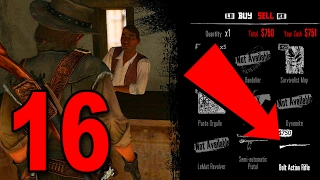 Red Dead Redemption - Part 16 - Buying a New HIGH POWERED Rifle!