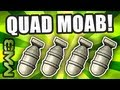 MW3 - QUAD MOAB Gameplay! World's First! - A.A.A Ep.4 w/ Raimpstage! (Modern Warfare 3)