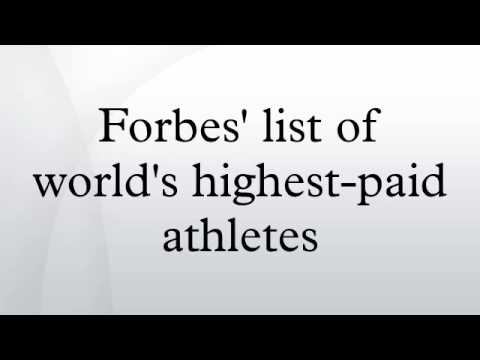 Forbes' list of world's highest-paid athletes