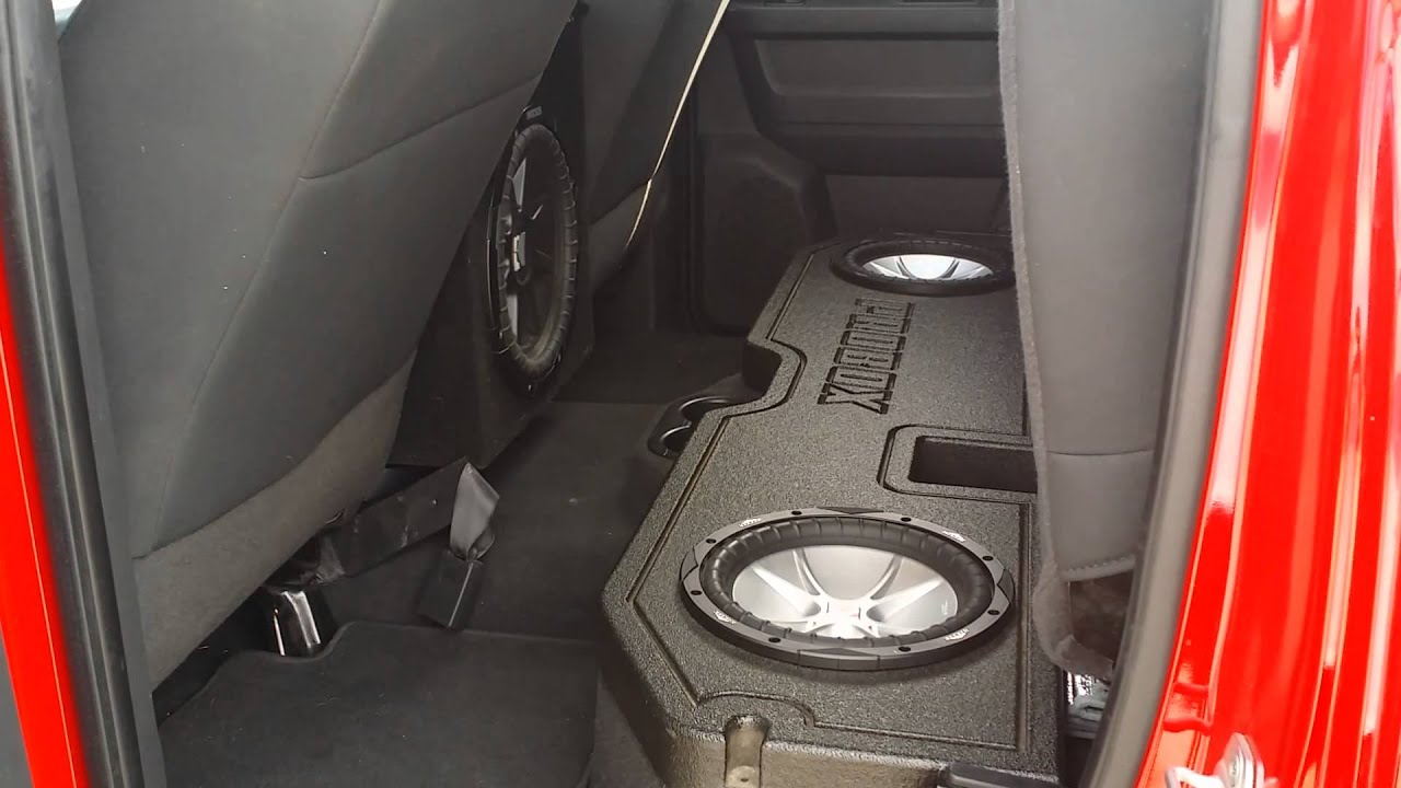 Dodge Ram custom console box - YouTube