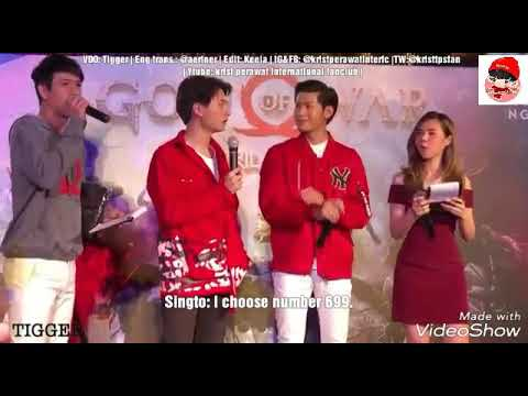 Eng Sub funny Krist with Singto choosing their favorite numbers