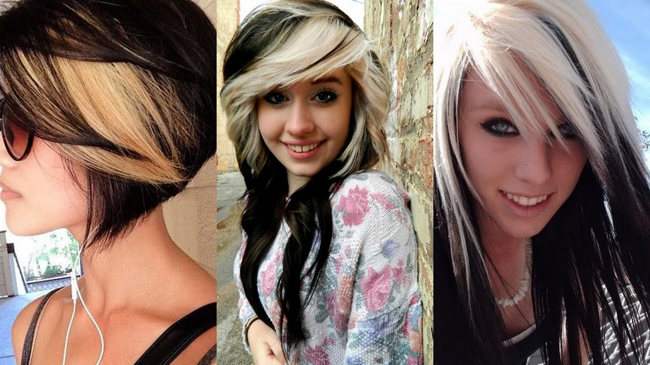Black Hairstyles with Blonde Highlights - YouTube