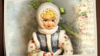 Ватная игрушка. Танцующая девочка. Лена Васько.