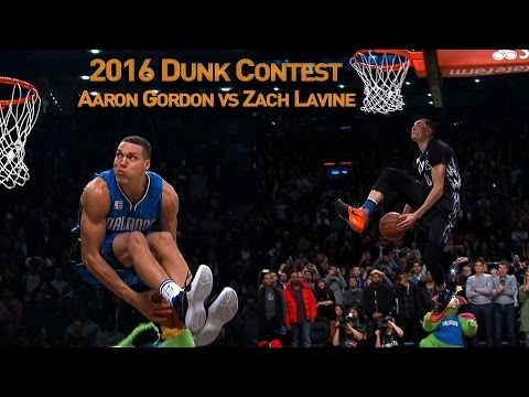 Zach LaVine and Aaron Gordons AWESOME 2016 Slam Dunk Duel