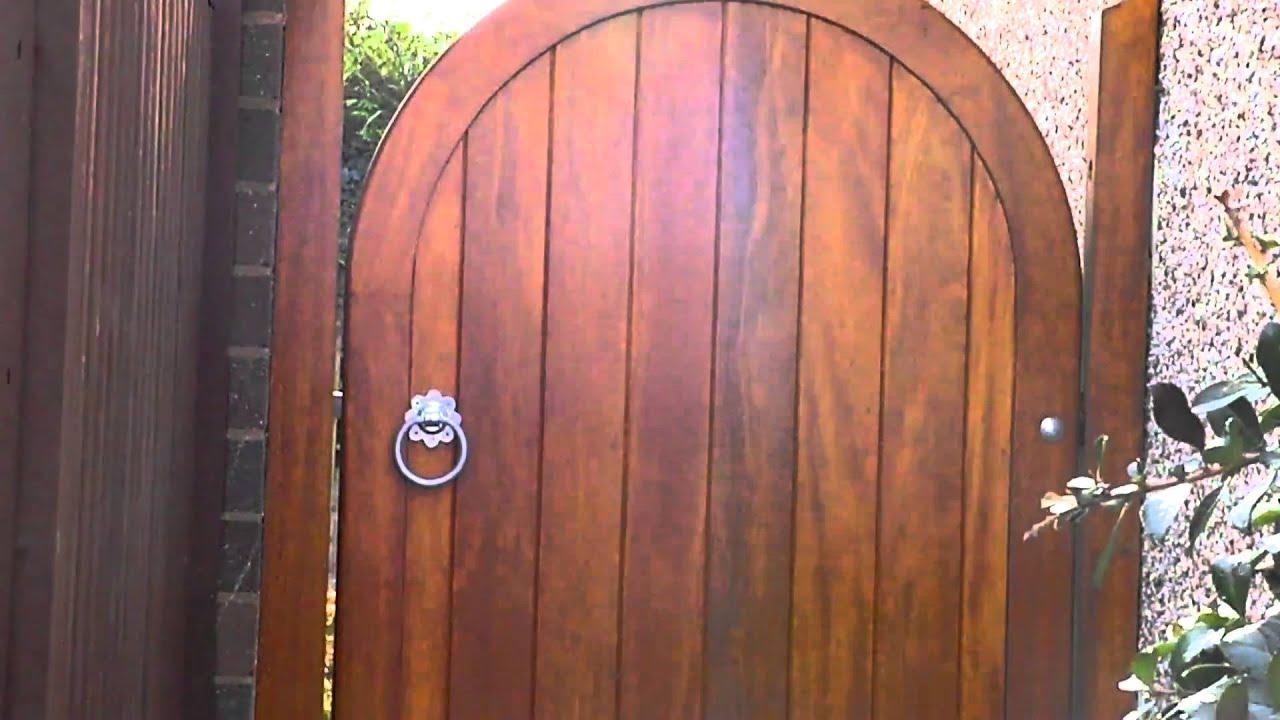 Hardwood Arched Pedestrian Gates Youtube