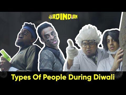 Types Of People During Diwali | Jordindian | Diwali In India | thumbnail