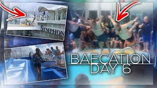 ZIP LINING & FLOWIDER/ INSANE Bellyflop competition on SYMPHONY of The SEAS!!! BAECATION DAY 6