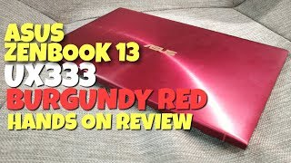 ASUS Zenbook 13 UX333 Burgundy Red Hands On Review