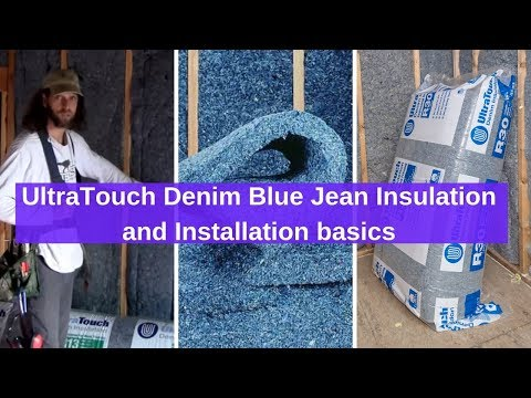 Review of Home Depot UltraTouch Denim Blue Jean Insulation and Installation basics