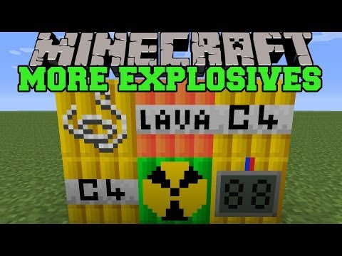 Minecraft: MORE EXPLOSIVES (TNT, MISSILES, BOMBS) More Explosives Mod Showcase