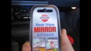 How To Reattach a Rearview Mirror