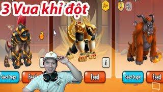 ✔️ Khi 3 Con Vua Khỉ chiến đấu Heroic Dragon City HNT chơi game Nông Trại Rồng HNT Channel New