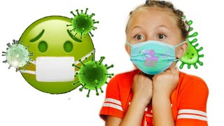 Детские истории про вирусы от Лизы! Вторая волна вирусов Правила поведения для детей!