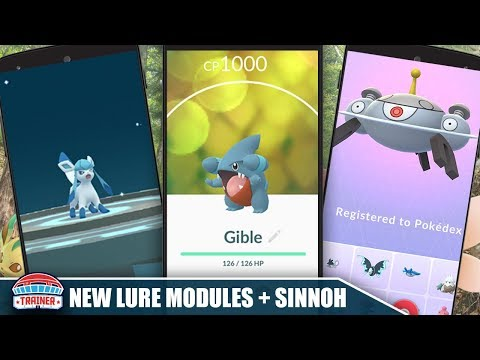 GIBLE IS LIVE! HOW TO USE NEW LURE MODULES TO EVOLVE GLACEON, ETC + MORE SINNOH POKEMON | POKEMON GO