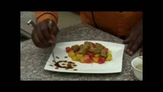 Artist Michael Tamire and chef yonas at Yenat Guada on Nahoo TV A