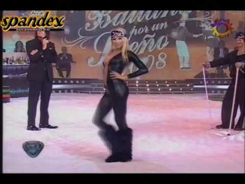 pampita pezon catsuit negro en patinando http://www.spandex.ar.tc.avi Video
