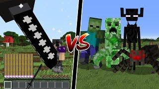 Minecraft: ESPADA GIGANTE OP VS MOBS GIGANTES! QUEM GANHA?