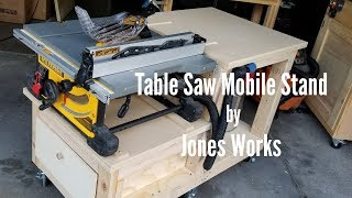 Table Saw Mobile Base | With Outfeed and Dust Collection - 14
