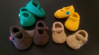 FREE Crochet Baby's 1st Mary Jane Booties