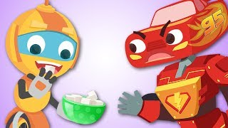 JOHNY JOHNY YES PAPA - Great Songs for Children - Funny Robot Mcqueen & Friends
