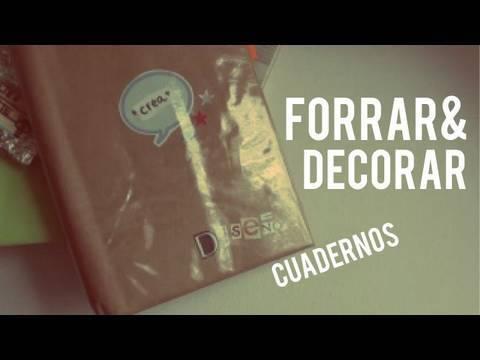 Tips para forrar decorar tus cuadernos regreso a clases for Como forrar un mueble con papel