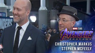 Christopher Markus & Stephen McFeely (Screenwriters) LIVE from the Avengers: Endgame Red Carpet