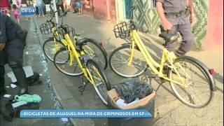 Bicicletas de aluguel estão na mira de vândalos