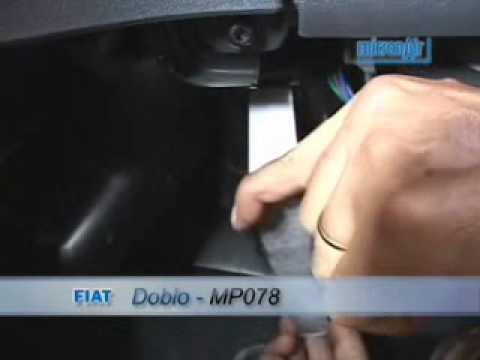 Troca de filtro de ar condicionado do Doblo