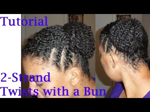 ♥379♥ Two Strand Twists Protective Style on Natural Hair Tutorial