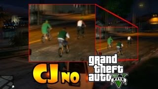 GTA V: EASTER EGG - CJ NO GTA V NA GROOVE STREET