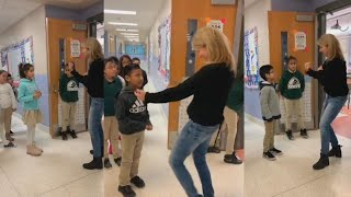 Students Greet Teacher With Sign Language